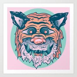 Trippy Tiger Art Print