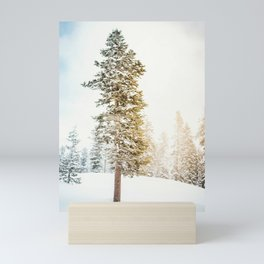 Snowy Tree | Winter Snow Forest Nature Photography Mini Art Print