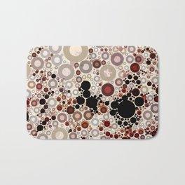 Earth ToneMulti Bubble Pattern Design Bath Mat