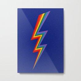 Thunder Rainbow Metal Print