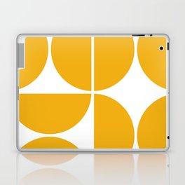Mid Century Modern Yellow Square Laptop & iPad Skin