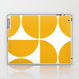 Mid Century Modern Yellow Square Laptop & iPad Skin