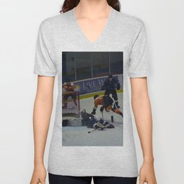 Dive for the Goal - Ice Hockey Unisex V-Neck