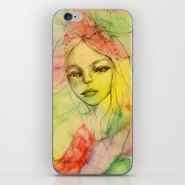 Rainbow romance iPhone Skin