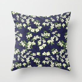 April blooms(Dogwoods_blue) Throw Pillow