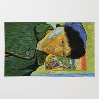 van gogh Area & Throw Rugs featuring Van Gogh by Palazzo Art Gallery