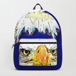 bald eagle pop illustration Backpack