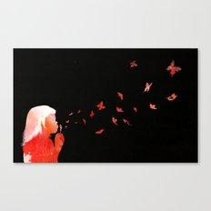Blowing butterflies Canvas Print