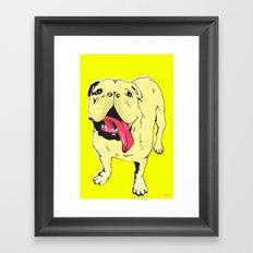 Greta the Bulldog Framed Art Print
