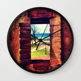 Framing Paradise Wall Clock