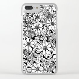 Floral & Thistle Clear iPhone Case
