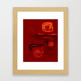 Orange rose Framed Art Print