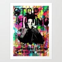 basquiat Art Prints featuring Basquiat  by Zoé Rikardo