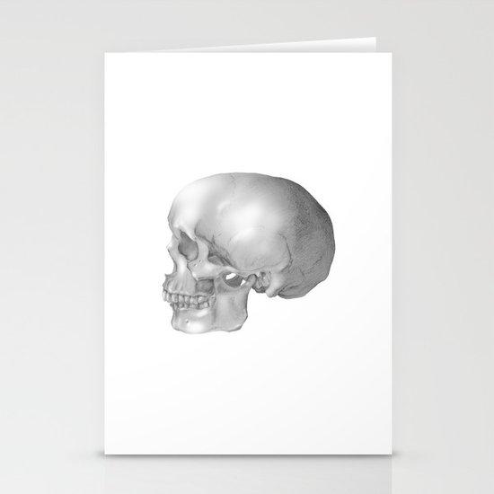 Human Skull Stationery Cards