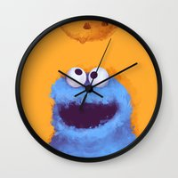 cookies Wall Clocks featuring Cookies  by Lime