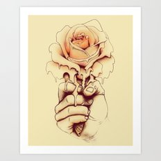 Rose a la Mode Art Print