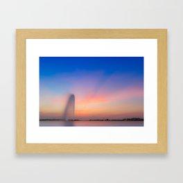 Jeddah Fountain Framed Art Print