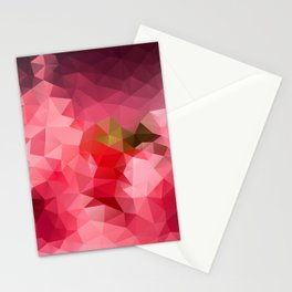 Pink strawberry Stationery Cards