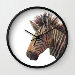 Zebra Drawing Wall Clock