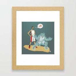Ghost Defender Framed Art Print