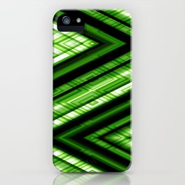 Zig Zag Pattern green iPhone Case