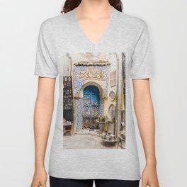 Doorways - Fes, Morocco II Unisex V-Neck
