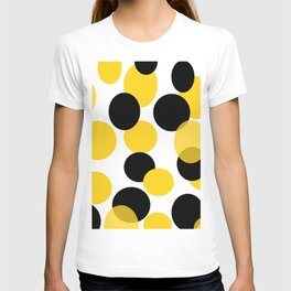Yellow and black abstract. T-shirt