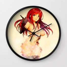 Red Haired Goddess Wall Clock