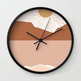 Sunrise Blush Beach Wall Clock