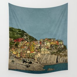 Of Houses and Hills Wall Tapestry