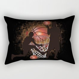 Basketball Sport Play Rectangular Pillow