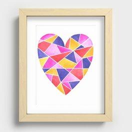 Bright Heart 39 Recessed Framed Print