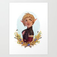 dragon age inquisition Art Prints featuring Dragon Age Inquisition: Sera by Elies Indigne