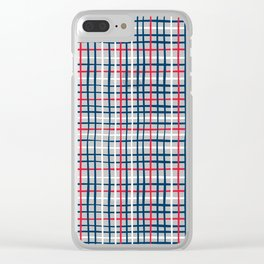 4th of July Skinny Gingham Clear iPhone Case