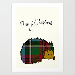 Winter Hedgehog Art Print