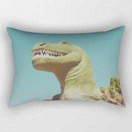 Dinosaur in Palm Springs Photography Rectangular Pillow