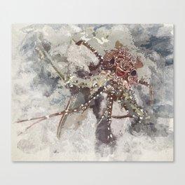 Lobster Watercolor Canvas Print