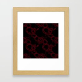 LACED SNAKE Framed Art Print