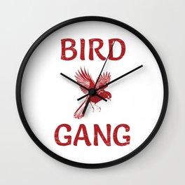Bird Gang Football Shirt For Football Offensive Lineman T-Shirt Design Player Team Throw Block Wall Clock