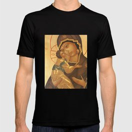 Orthodox Icon of Virgin Mary and Baby Jesus T-shirt