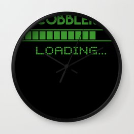 Cobbler Loading Wall Clock