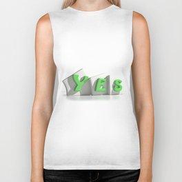 Yes green tags Biker Tank