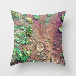 Accretion, drink from the empyrean elixir littered with chimeric loam Throw Pillow