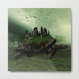 Druid Golf Metal Print