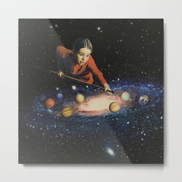 Space Pool Metal Print