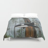 giants Duvet Covers featuring Giants Among Giants by Jason Pierce
