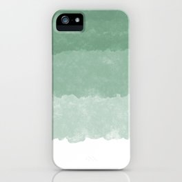 Modern lucite green abstract watercolor ombre pattern iPhone Case