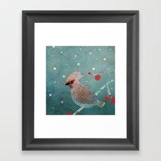 Tweet in the Snow Framed Art Print