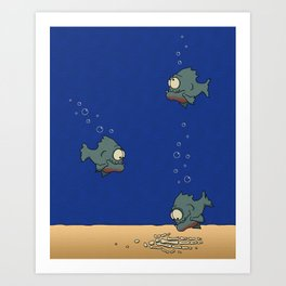Feed The Fish Art Print