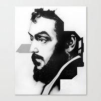 kubrick Canvas Prints featuring STANLEY KUBRICK by A. Dee